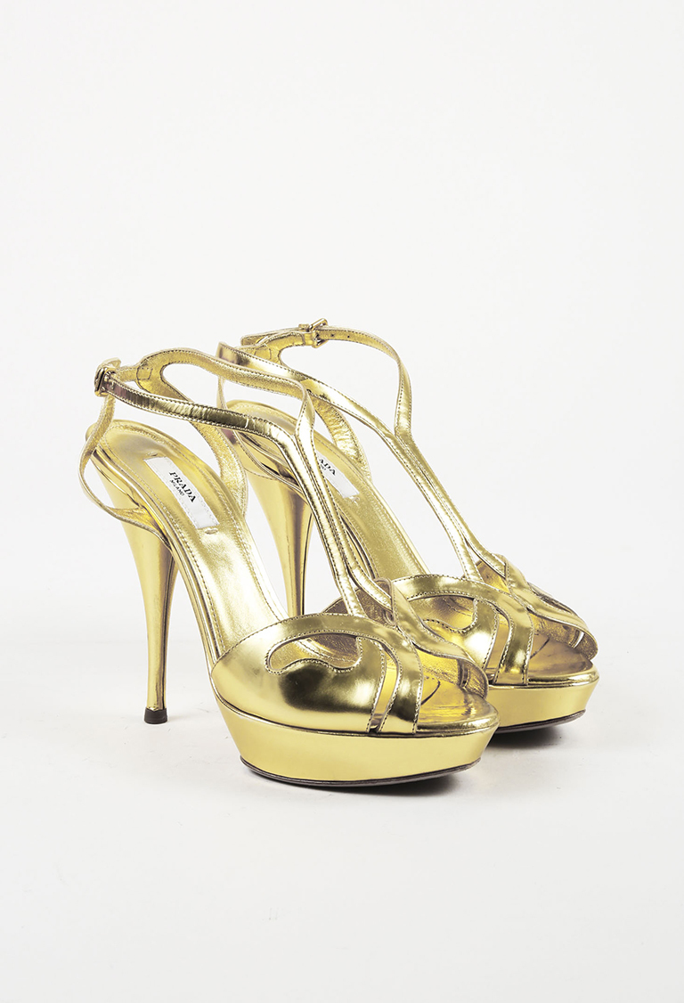 Shop Accessories. View All Accessories · Pop-ups · Sale. Metallic Gold  Leather Peep Toe Platform Sandals 2f30e35caf