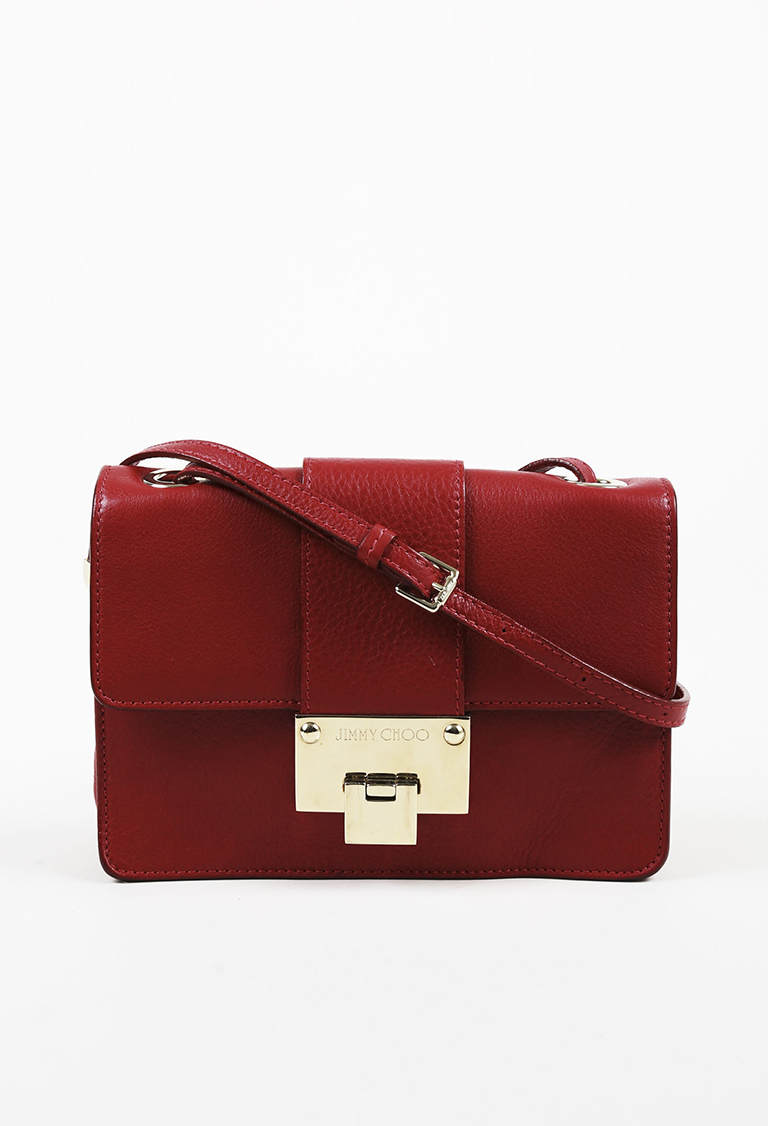 "Red Leather Small ""Rebel"" Crossbody Bag"
