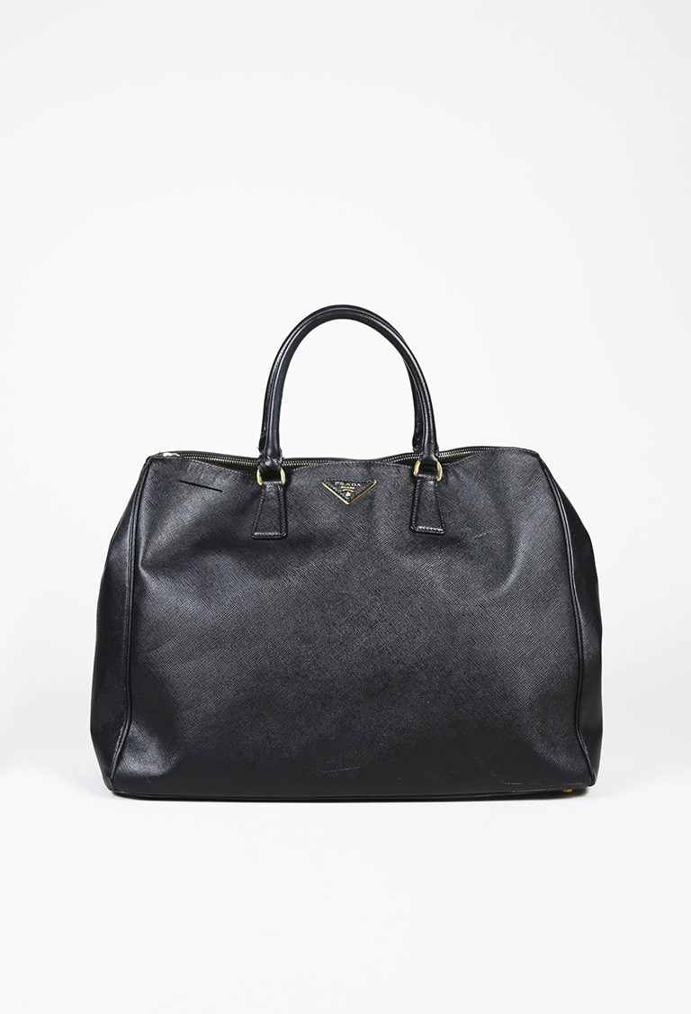 793956e80776 ... Black Saffiano Lux Leather Extra Large