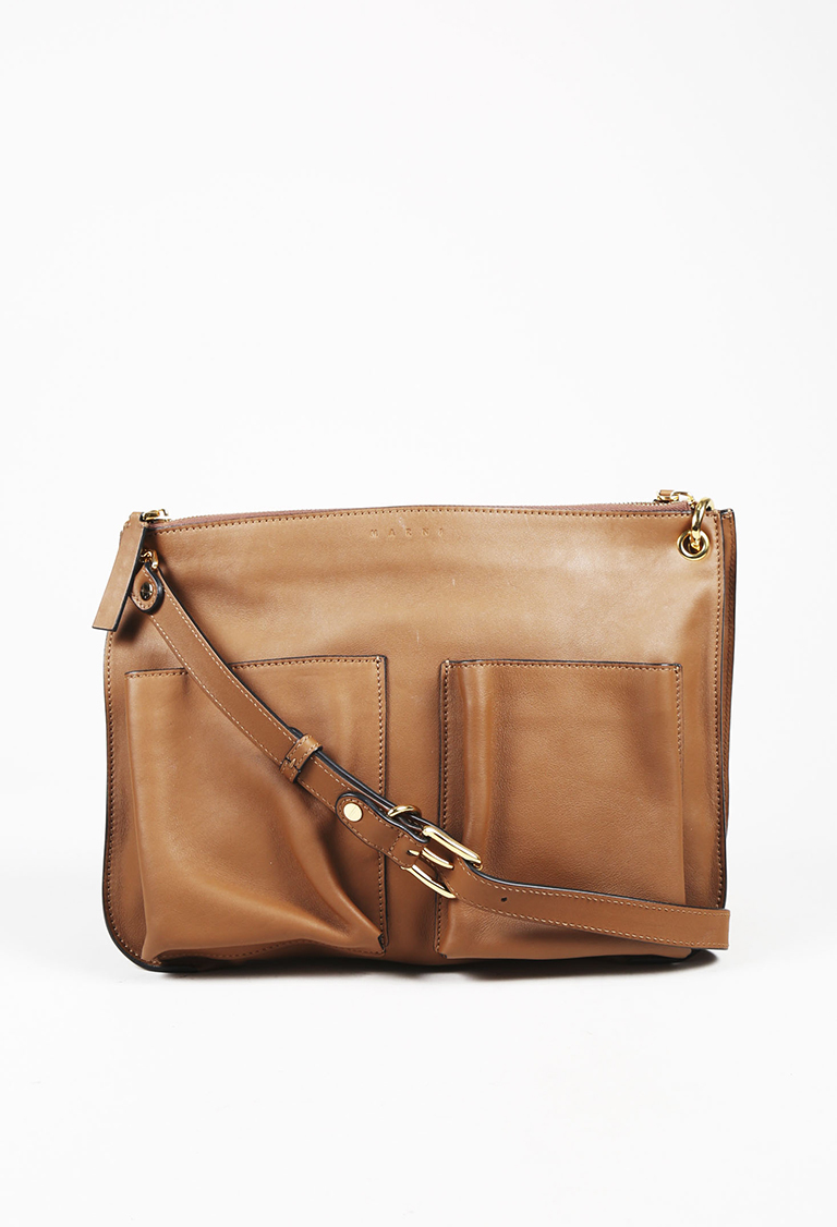 Brown Leather Crossbody Bandoleer Bag