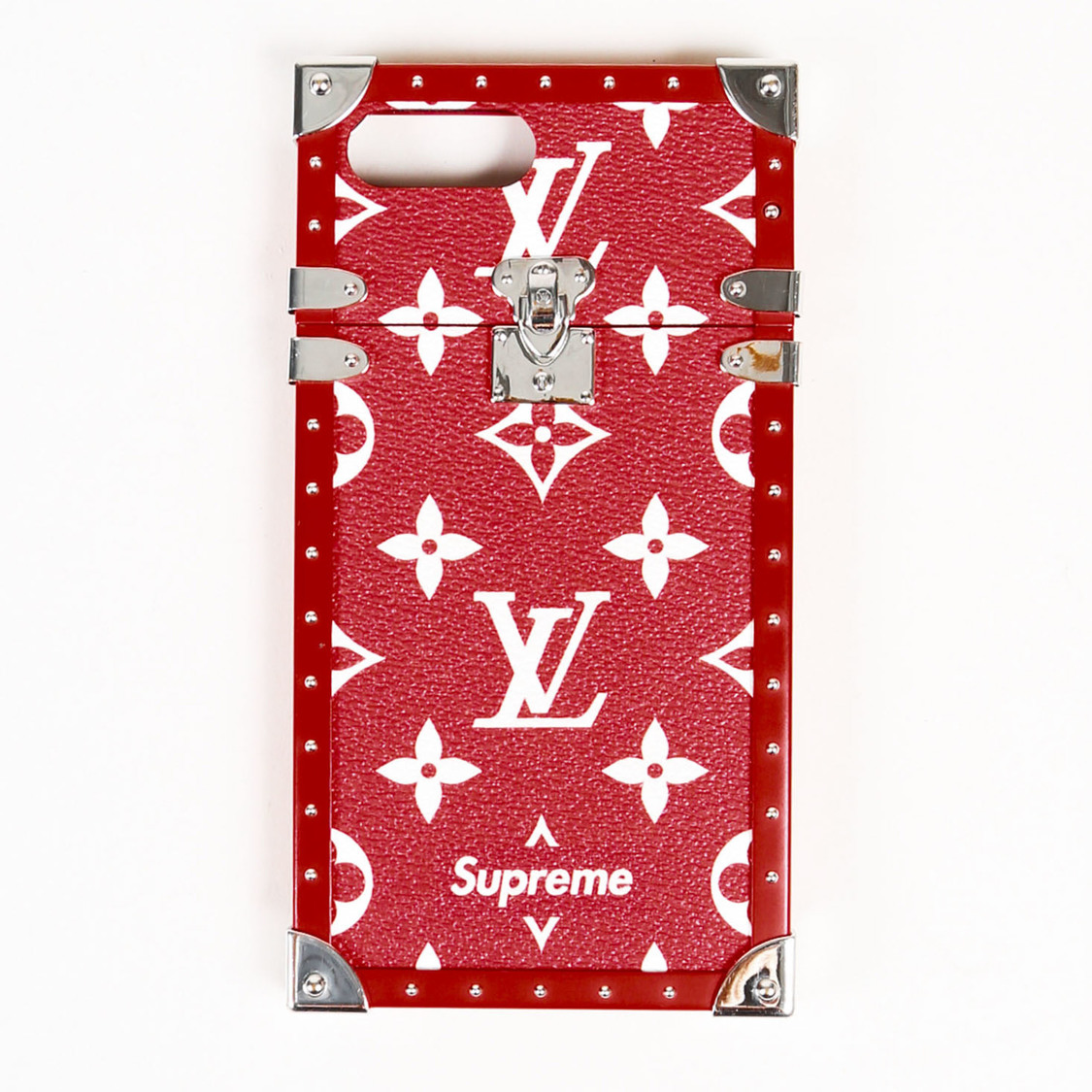 a057aedb9e73 Details about Louis Vuitton x Supreme Red Monogram Coated Canvas