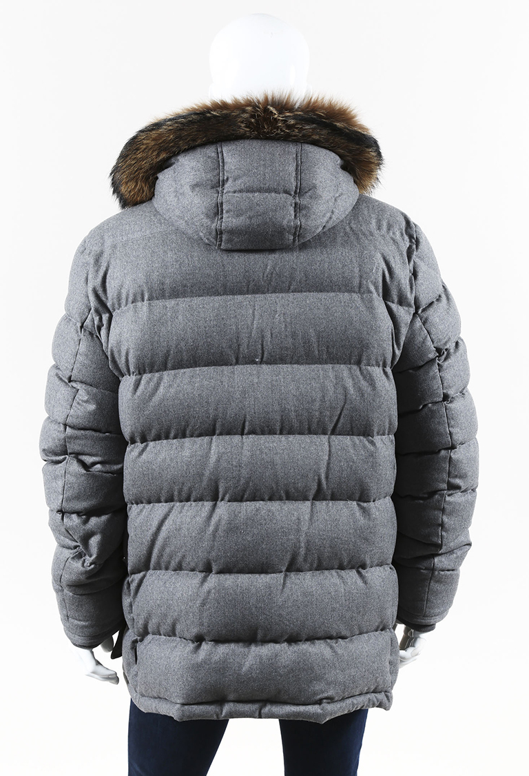3742518b9 real mens moncler coat with fur 7deed fe80a