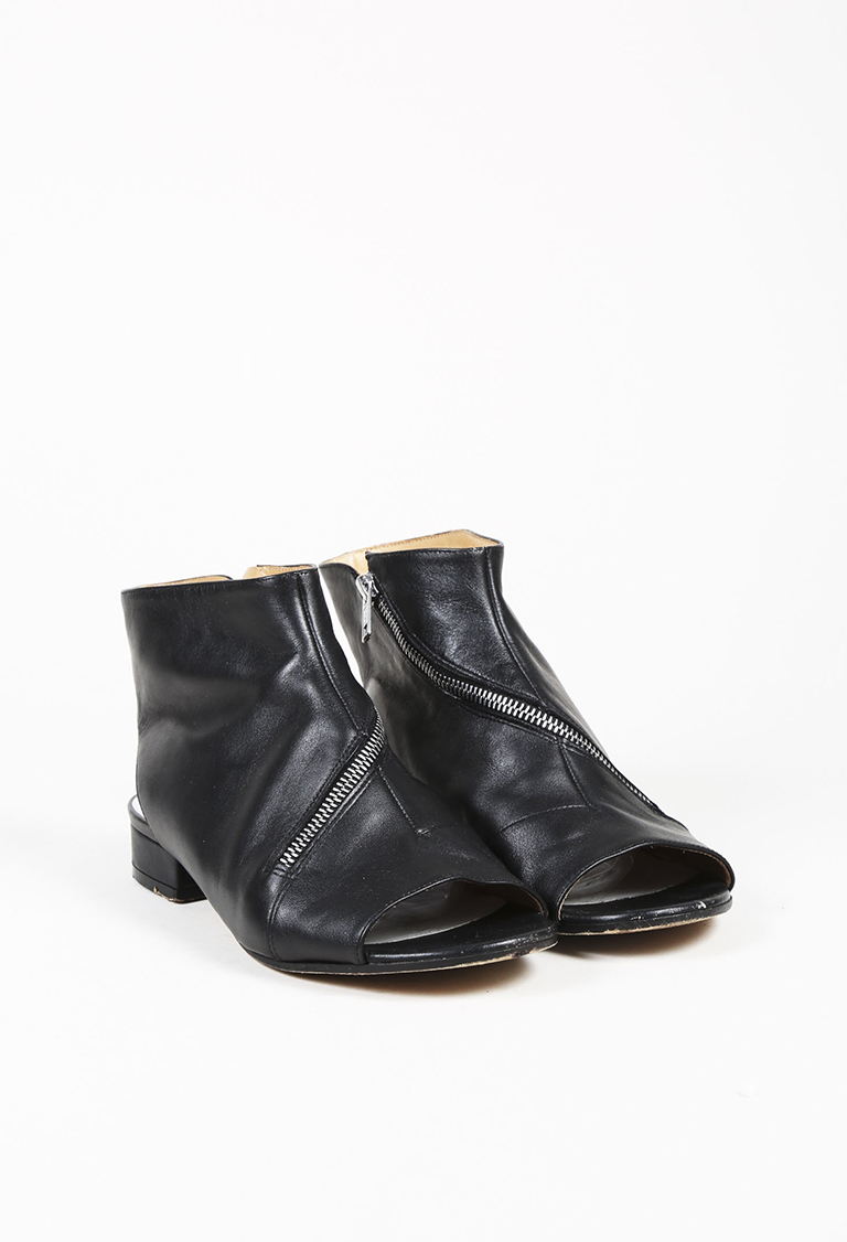 cheap real Maison Margiela Leather Zip Sandals eastbay for sale cheap new arrival buy cheap hot sale WkGkQ9