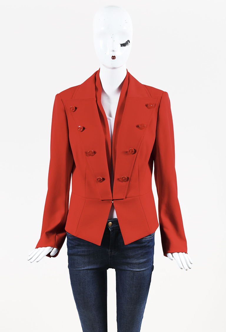 Red Wool Structured Jacket