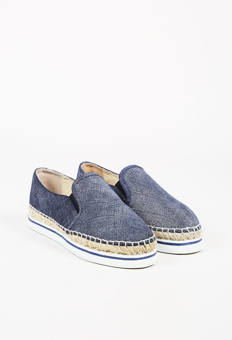 "Blue Denim ""Dawn"" Espadrille Sneakers"