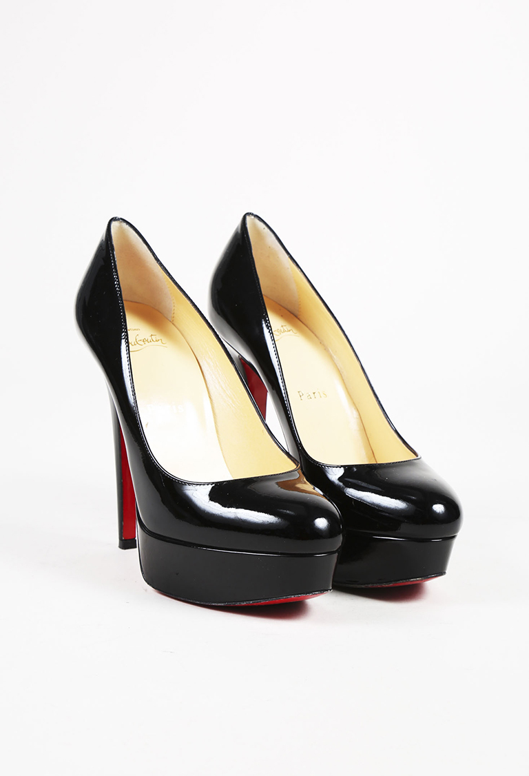 "Black Patent Leather ""Bianca"" Pumps"