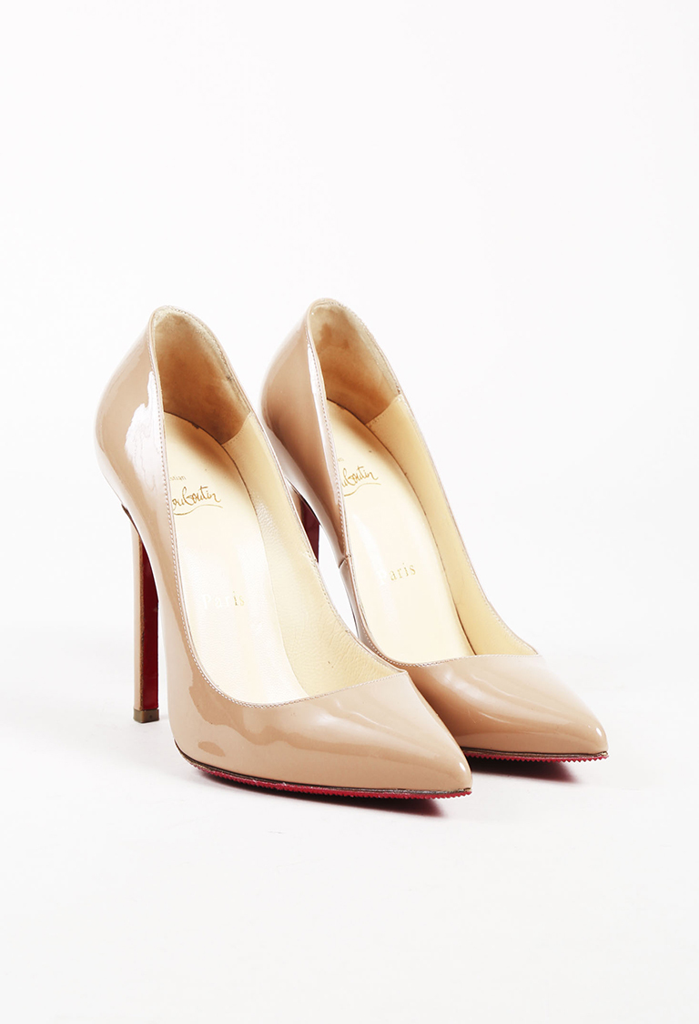 """Nude Patent Leather """"Pigalle Follies"""" Pumps"""