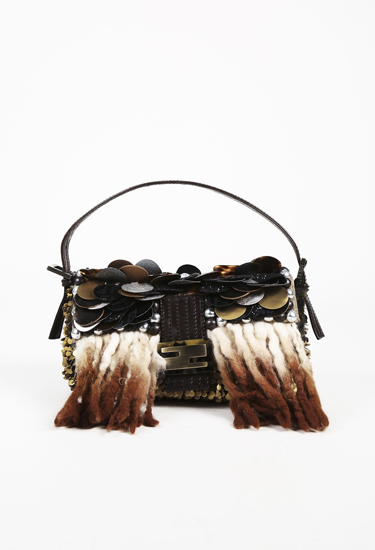"Limited Edition Multicolor Leather Embellished ""Baguette"" Bag"