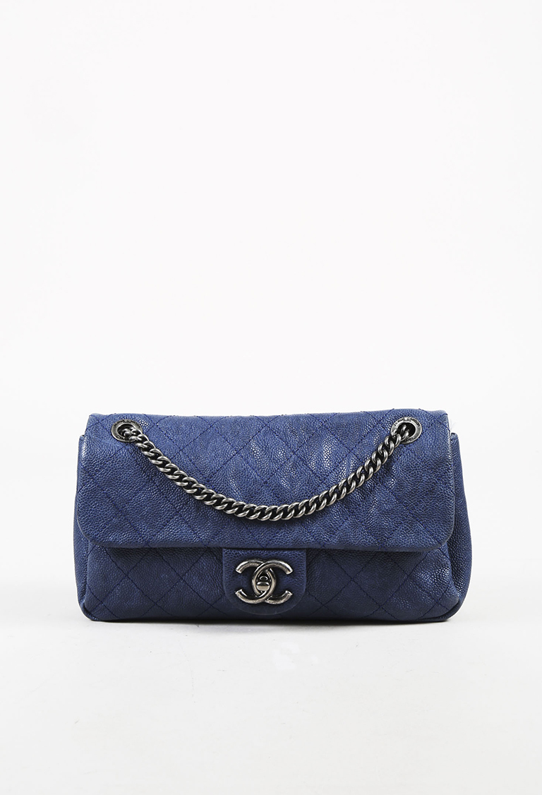 Chanel. Blue Quilted