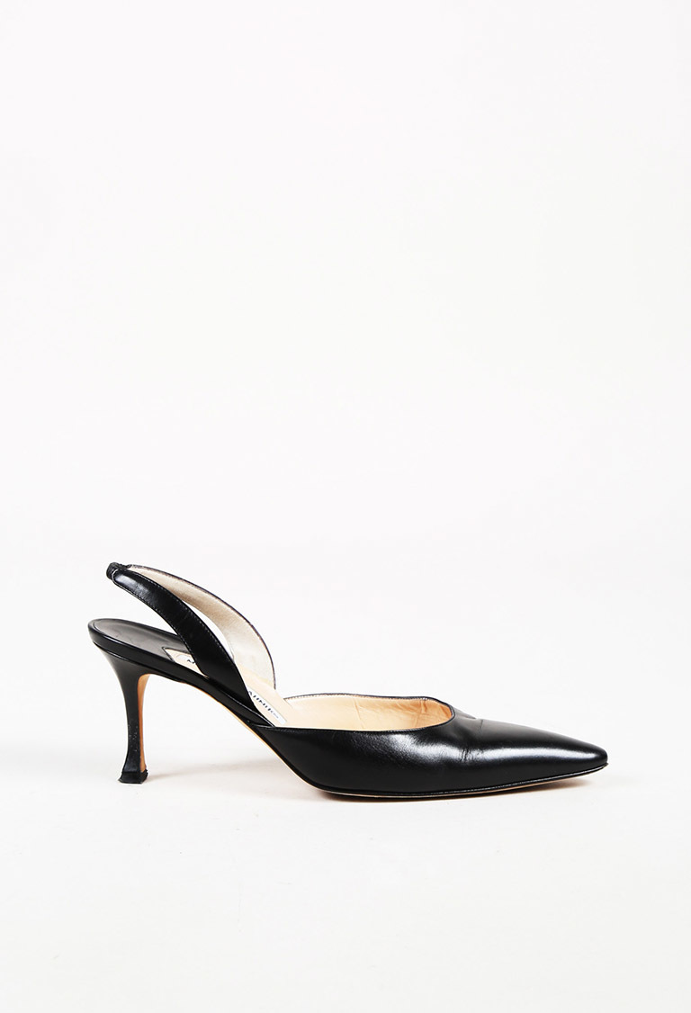 865f968da6 Manolo Blahnik Black Leather