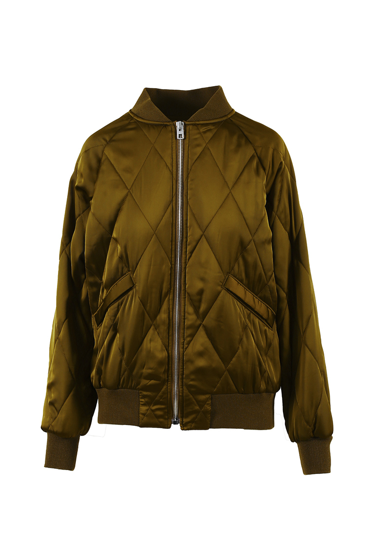 Green Quilted Bomber Jacket Luxury Garage Sale