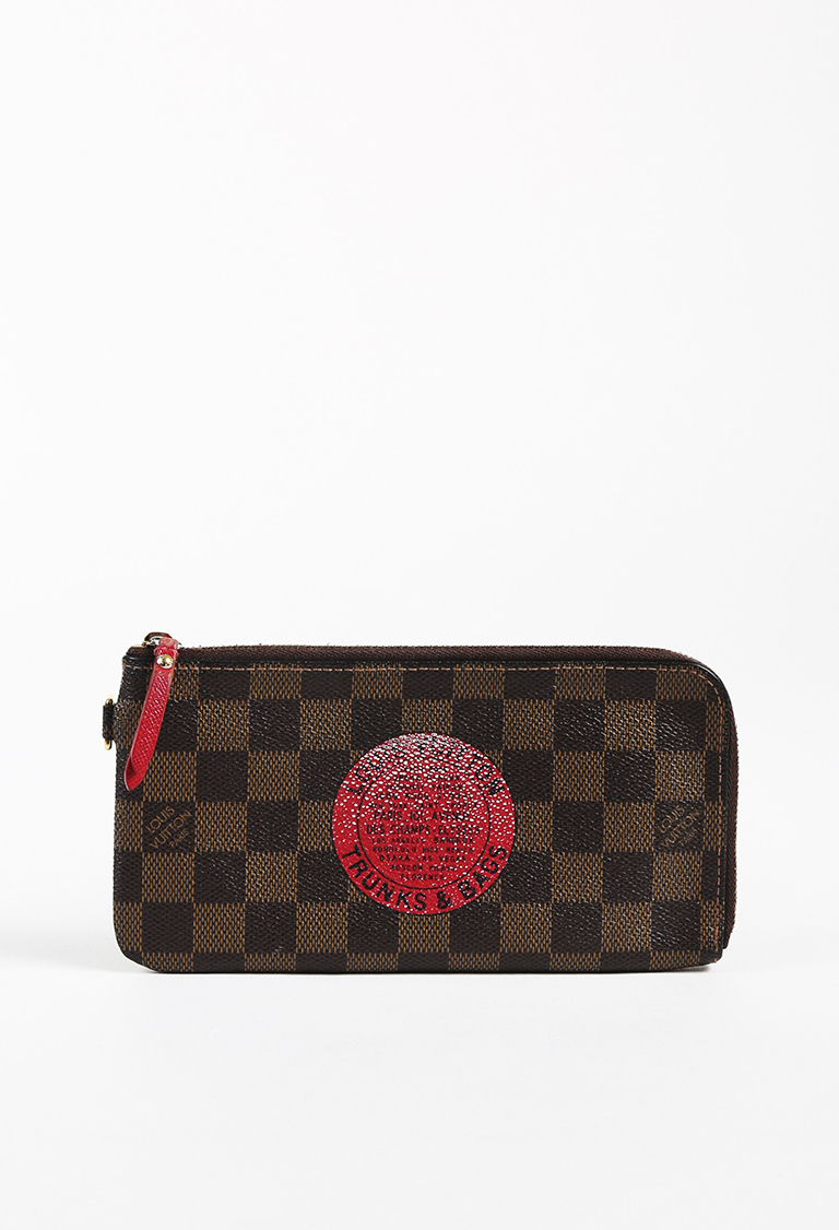 """Brown Damier Canvas """"Complice Bags & Trunks"""" Wallet"""