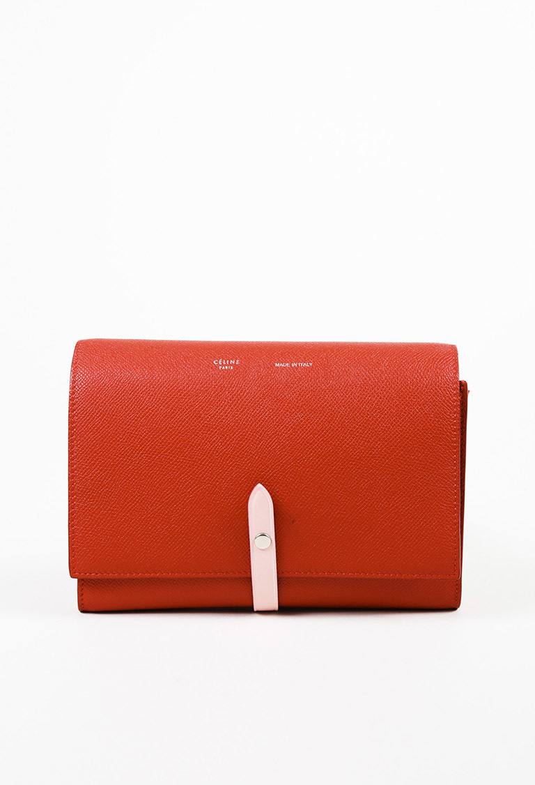 59a030788e Celine Red Pink Leather