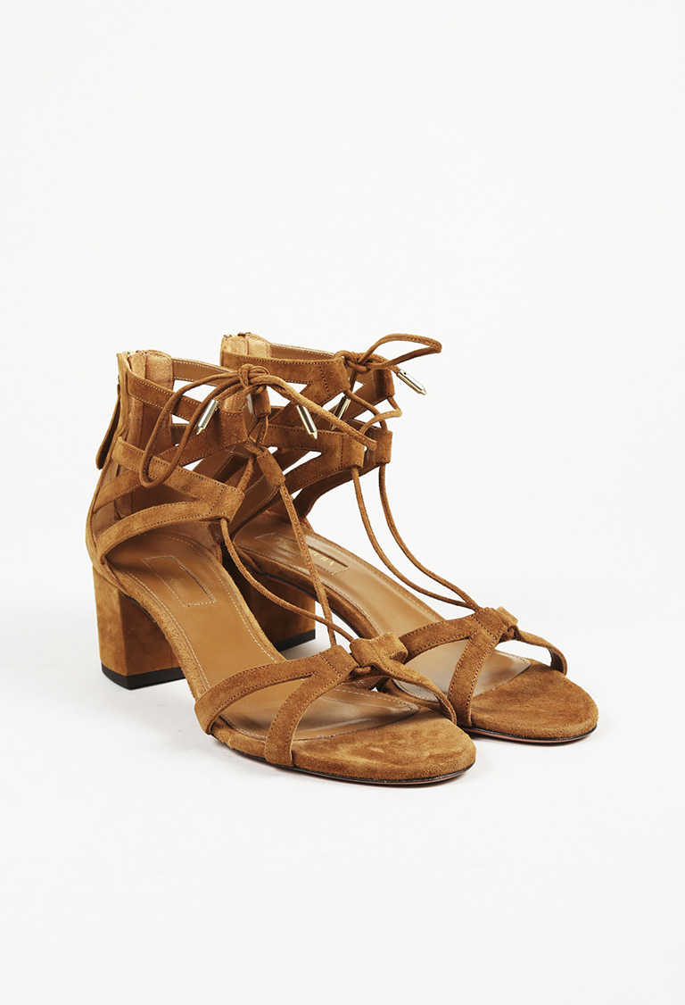 20e2d743a9be Aquazzura Brown Suede