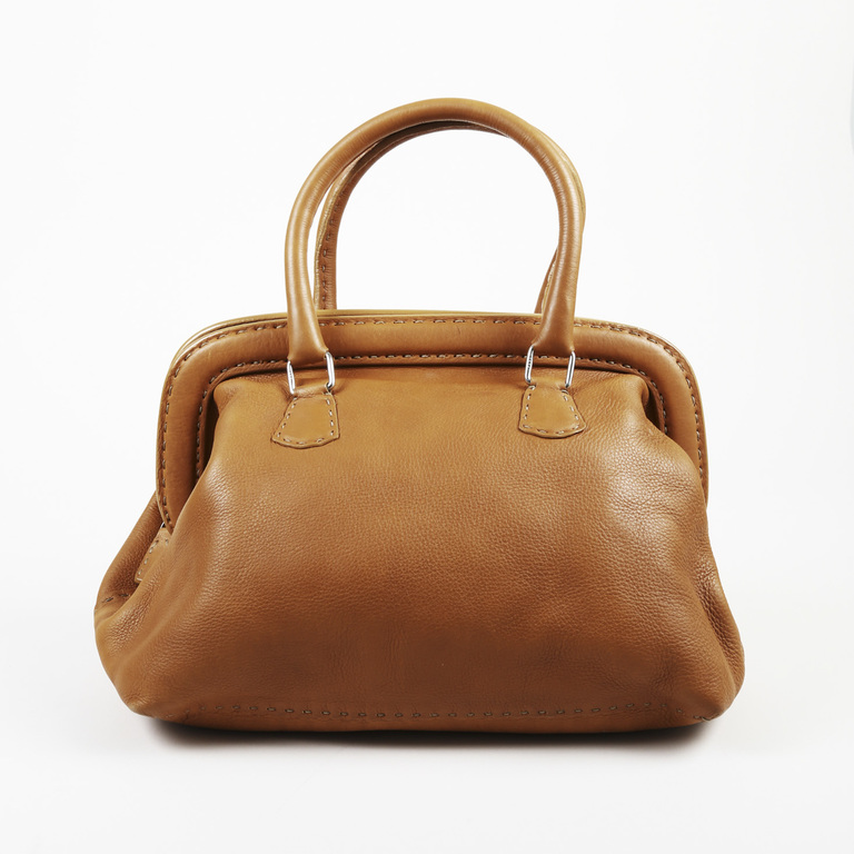 3a2585523b Fendi Brown Selleria Leather Doctor Bag