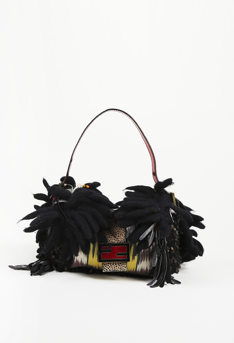 Fendi Limited Edition Calf Hair Canvas