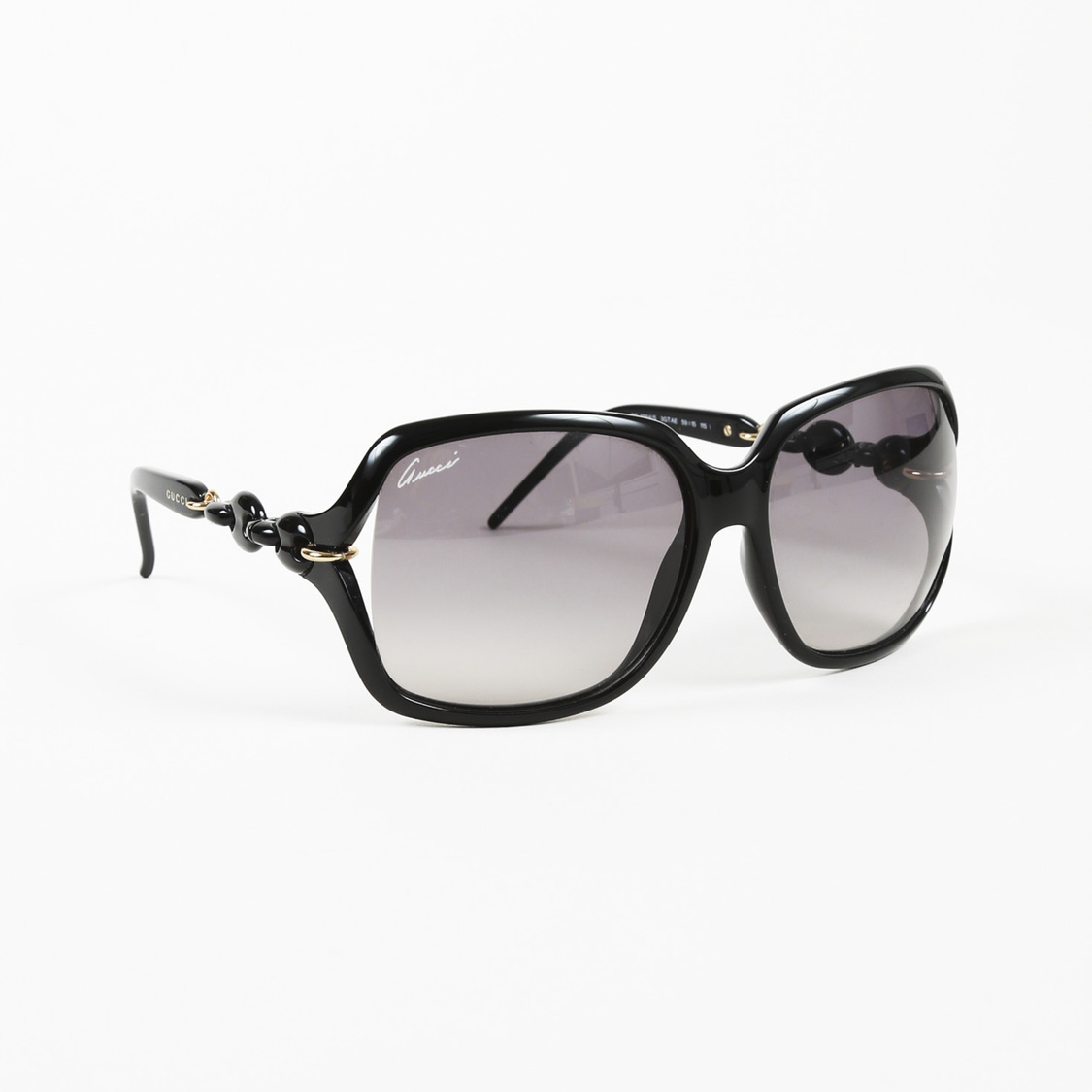 be92f1acd3 Details about Gucci Black Oversized Sunglasses