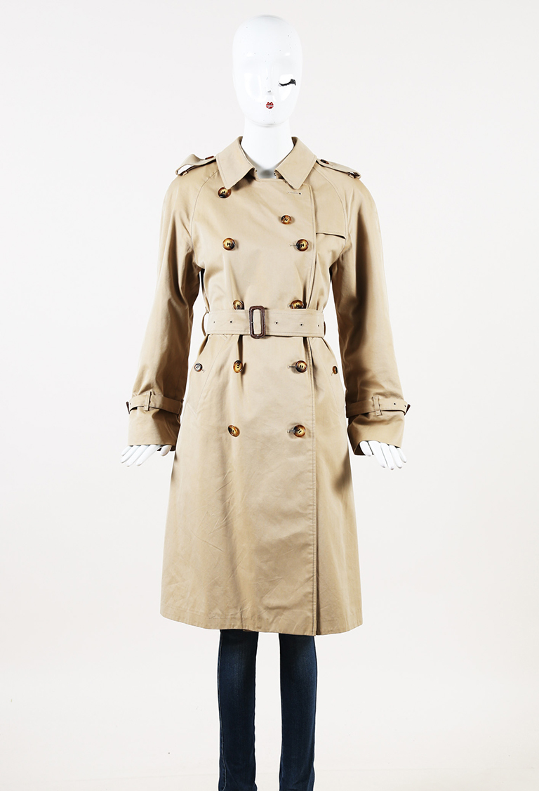 6025646f6f5a6 Burberry London Cotton Double Breasted Trench Coat