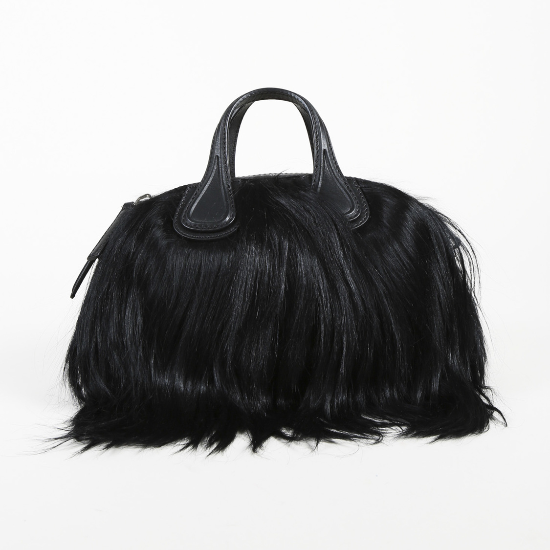5290ef94e4a3 Details about Givenchy NWOT Black Goat Fur Nightingale Bag SZ: Micro