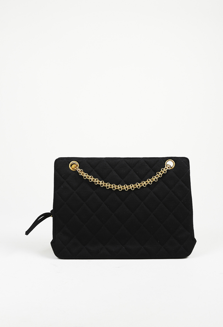 af68f6b5ef1d Chanel Vintage Black Quilted Shoulder Bag