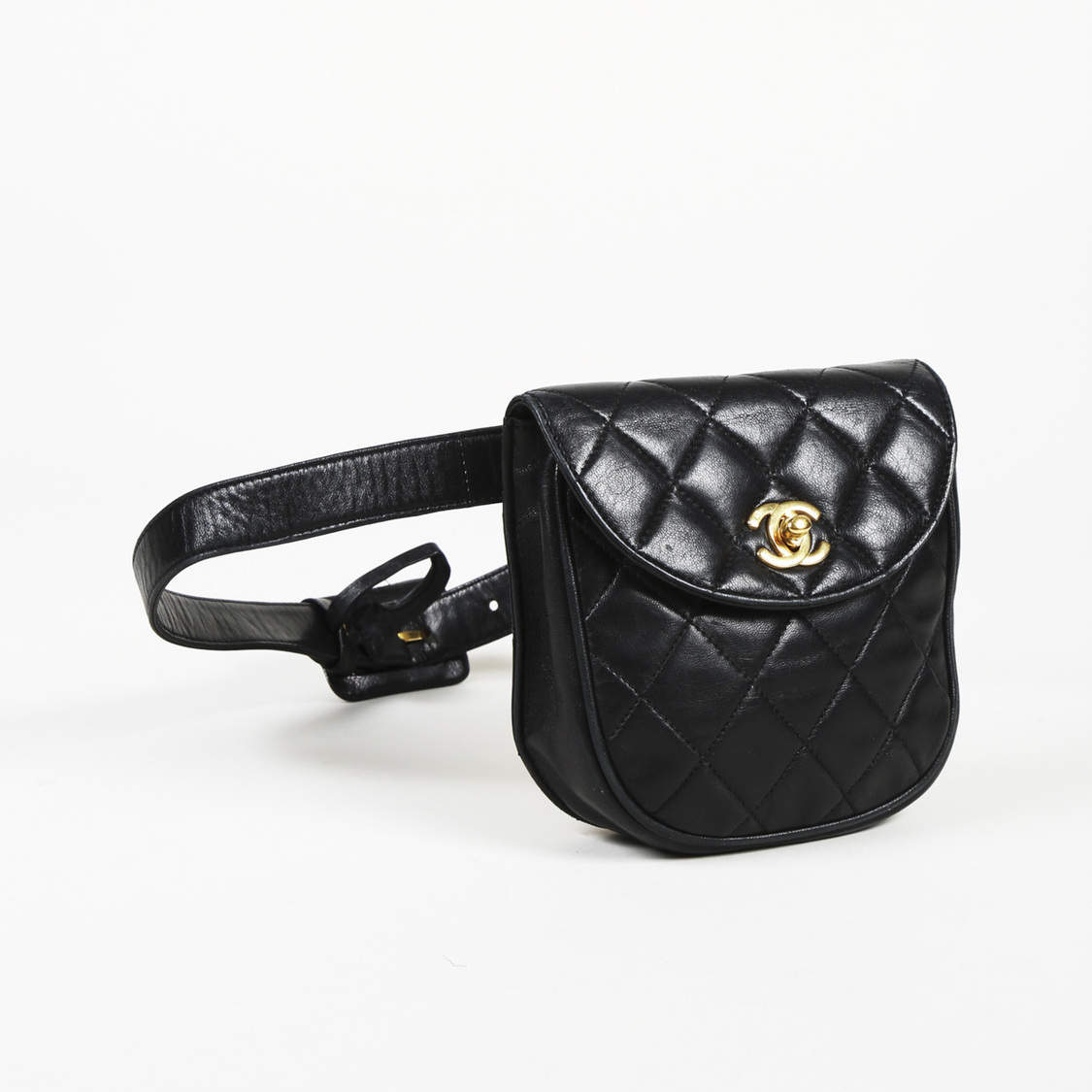 971f1889 Details about Vintage Chanel Quilted Lambskin Leather Belt Bag