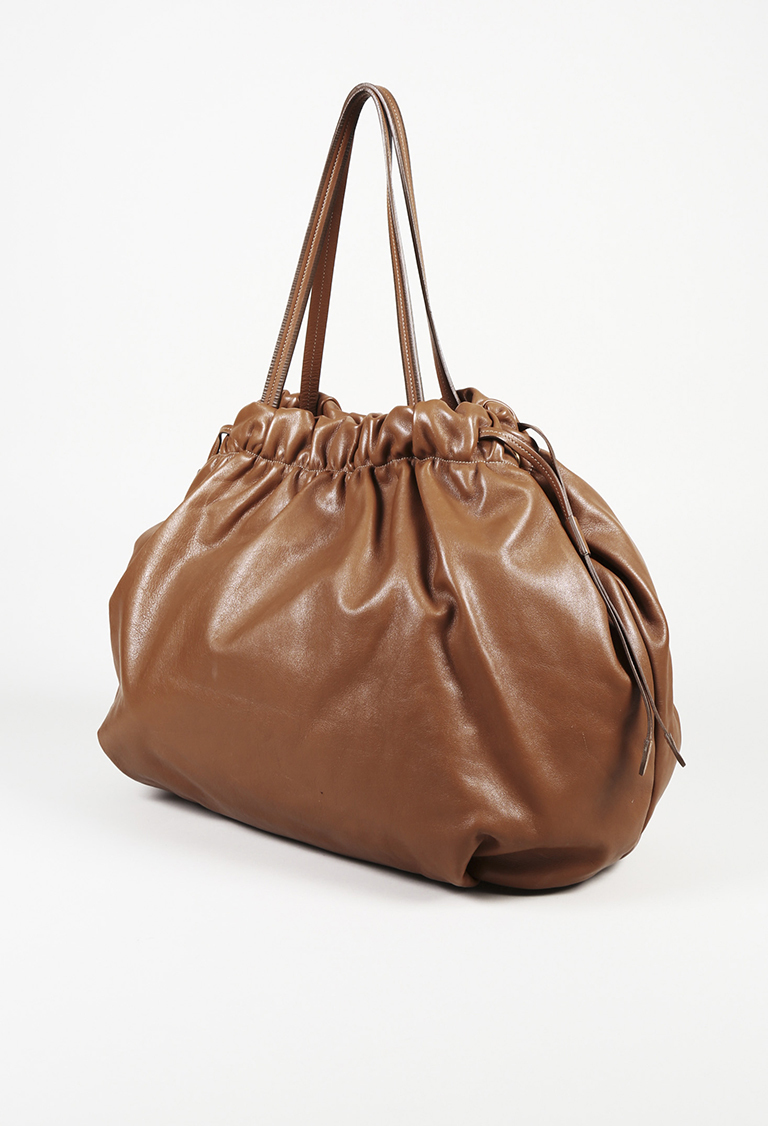 3c09dffca453 Prada Soft Calf Leather Drawstring Shoulder Bag