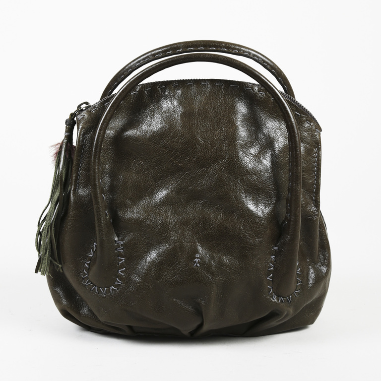 fd201f734a Details about Henry Beguelin Leather Round Handle Bag