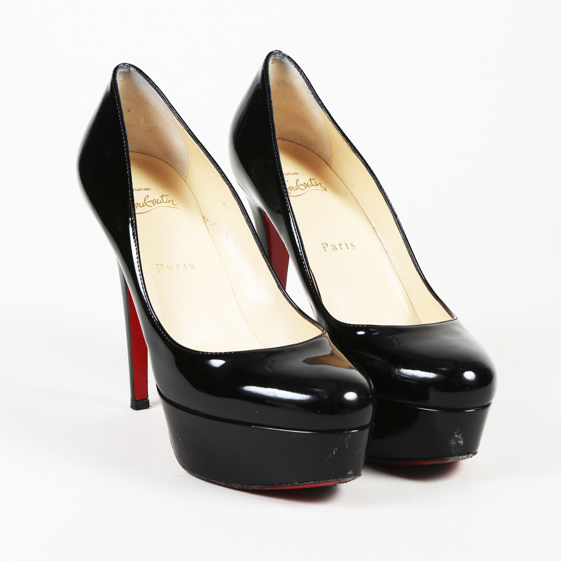 half off f6ae8 e32f1 Details about Christian Louboutin Patent Leather