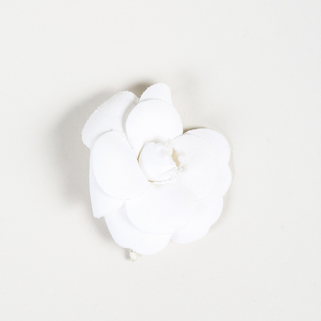 6abe50fb9087a0 Details about Chanel White Camellia Brooch