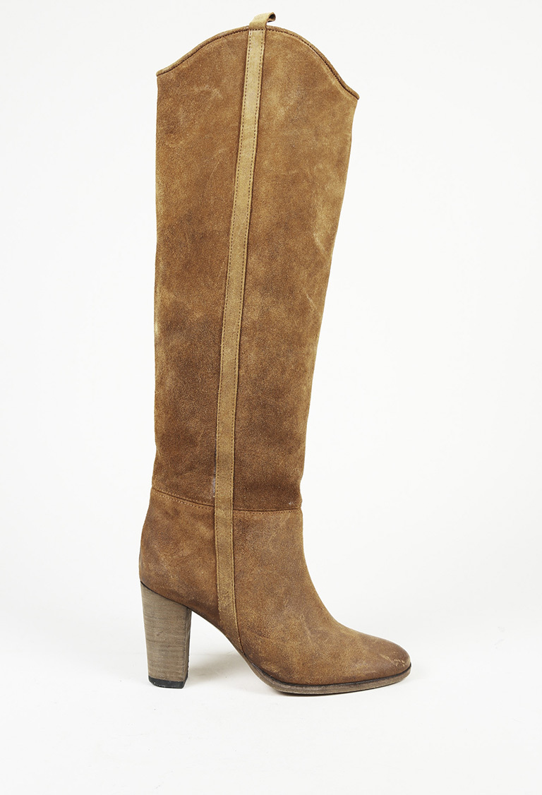 a27ad2c20b0 Isabel Marant Suede Heeled Knee High Boots SZ 38