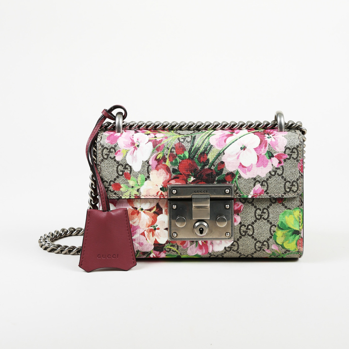 b0cb718bf5f Details about Gucci GG Blooms Coated Canvas Small
