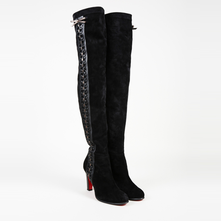 differently 7862b c47ca Details about Christian Louboutin Anitapal Over the Knee Boots SZ 41