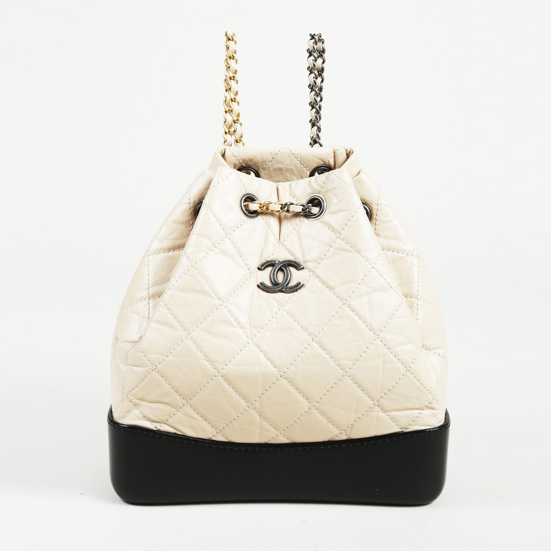 6e93cc38a47d Chanel White Quilted Backpack | The Shred Centre