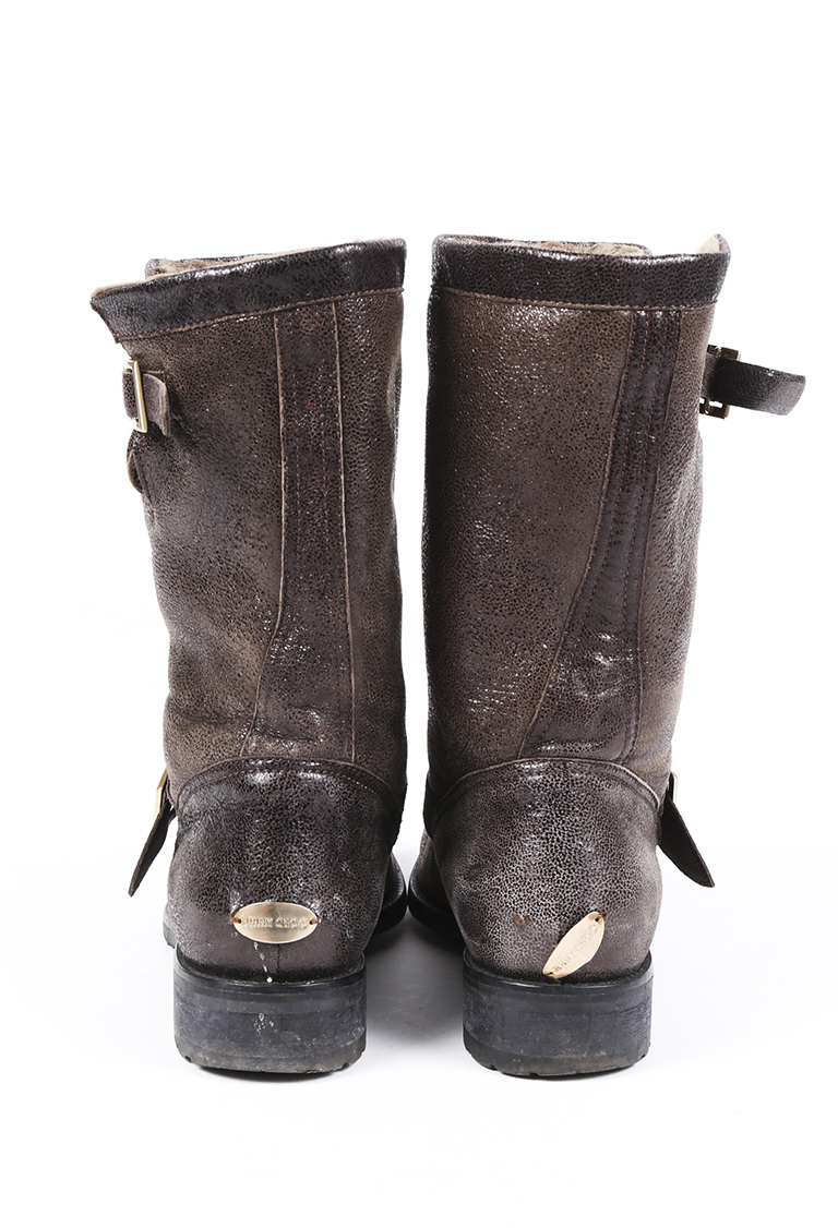 Jimmy Choo Youth Leather Fur Lined