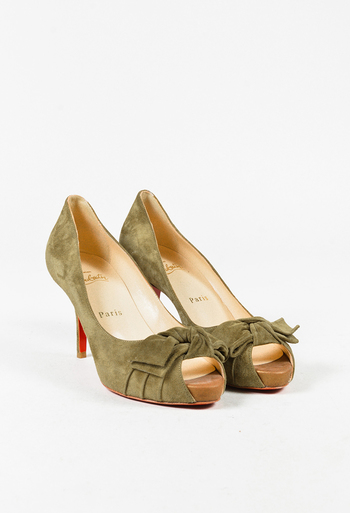 260a89552ad Christian Louboutin Green Suede