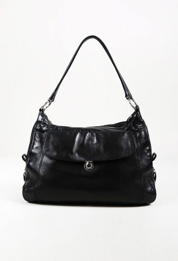 3138bd2ffa Prada Black Calfskin Leather Shoulder Bag