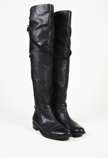 97dd2db20c6 Burberry Leather Over the Knee Boots