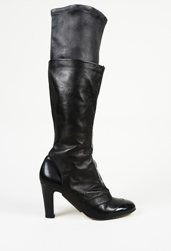 e314ee013 Leather Cap Toe Boots with Spats