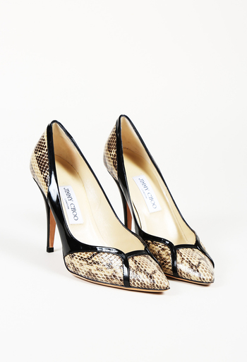 cheapest cute cheap enjoy discount price Snakeskin Pointed Pumps