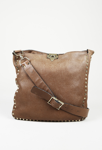 584dec145f25 Rockstud Leather Crossbody Bag