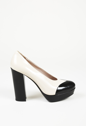 c4950abb2d9 Patent Leather Block Heel Pumps