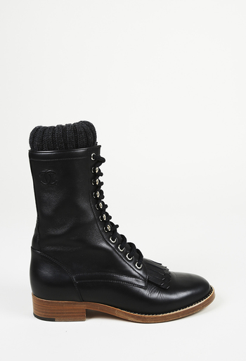 5ac55c202b7 Leather CC Lace Up Ankle Boots