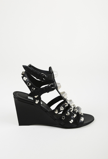 aed8cc2a3684 Studded Wedge Sandals