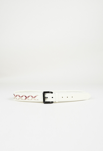27ad9330b981 Checked Patent Leather Belt