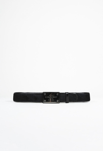 8388628cf17c Gianni Stitched Calf Hair Belt