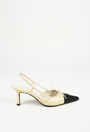 c6b6a76947ab Leather CC Pointed Slingback Pumps