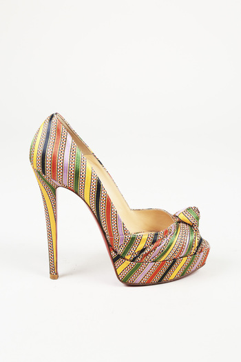 f777c2ebe35f Christian Louboutin. Category. Price. Condition. Woven Satin Peep Toe Pumps