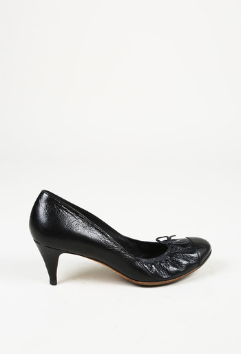 b17b7dd81255 Leather Cap Toe Pumps