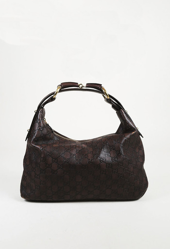 9c83a4fb9d0 Medium Horsebit Guccissima Monogram Hobo Bag