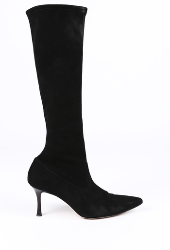 c80bd4ea33 Suede Pointed Sock Boots